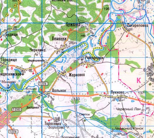 карта села Райгородок