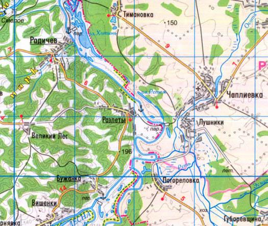 карта села Разлеты