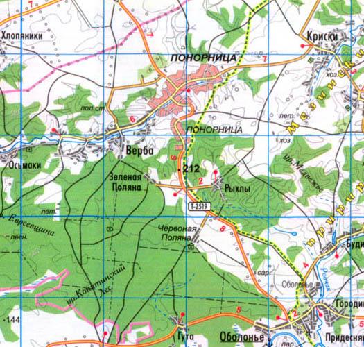 карта села Рыхли