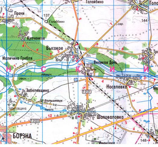 карта села Великая Дочь