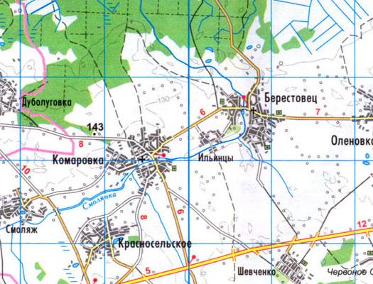 карта села Ильинцы