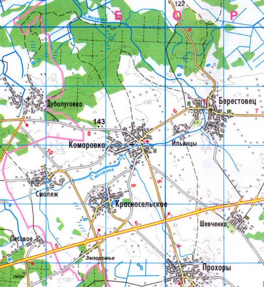 карта села Комаровка