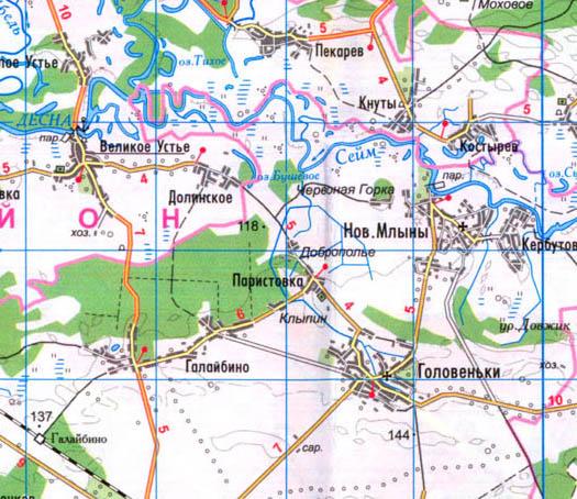 карта села Паристовка