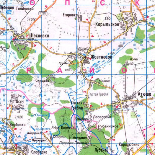 карта села Накот и Синявка