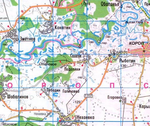 Сохачи карта села