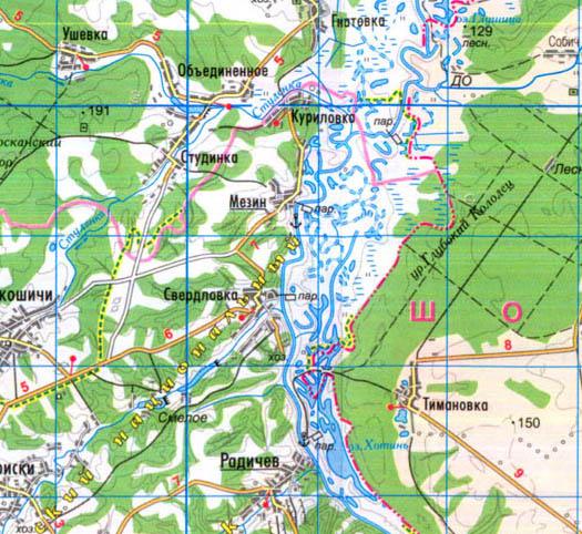 карта села Свердловка