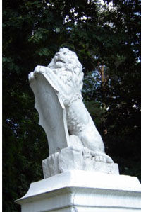 лев в селе Качановка