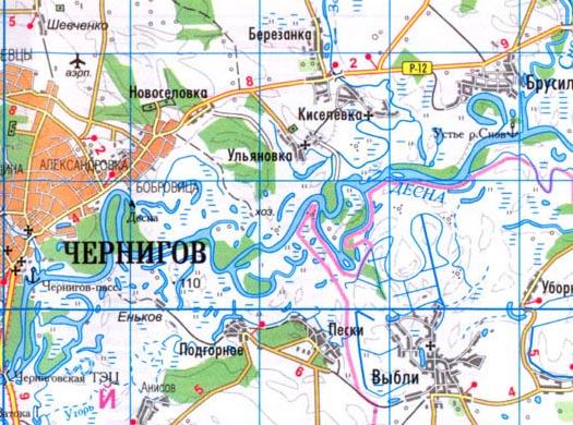 карта села Ульяновка
