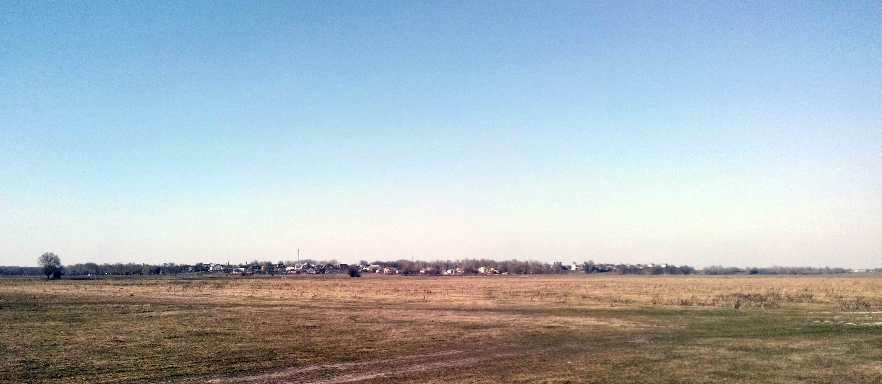 фото вид на село Ульяновка с берега реки Десна