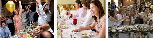 свадьба за столом