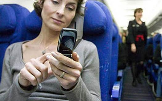 использования мобильного в самолете