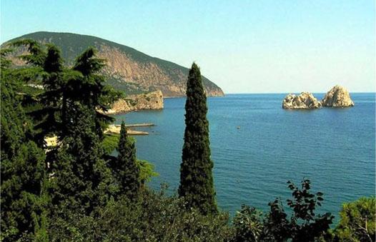 Черное море с берега